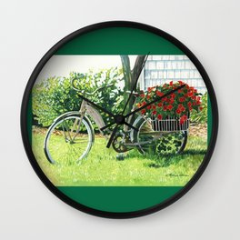Impatiens to Ride Wall Clock