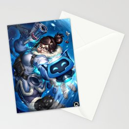 over mei watch Stationery Cards
