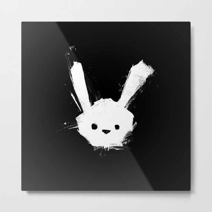 minima - splatter rabbit  Metal Print