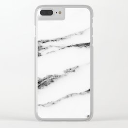 Marble (White) Clear iPhone Case