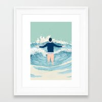 mad men Framed Art Prints featuring Mad Men by lazy albino