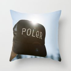 Poler Hat Throw Pillow