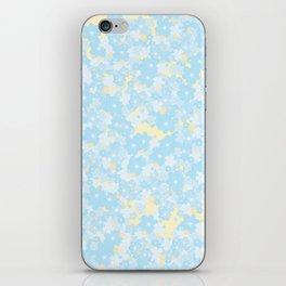 Little blue flowers iPhone Skin