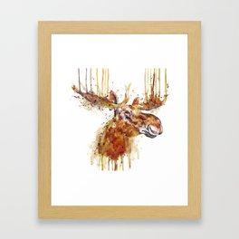 Moose Head Framed Art Print