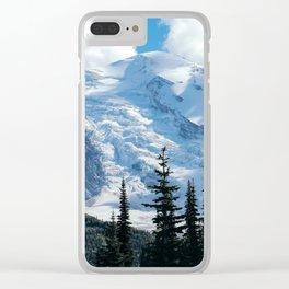 Mount Adams Glacier Clear iPhone Case