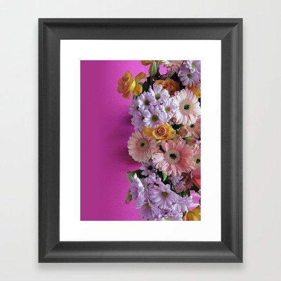pink 'n flowers Framed Art Print