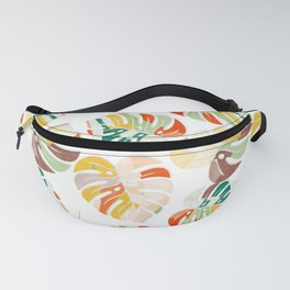 leaves seamless mid century pattern Fanny Pack