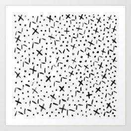 Getaway White Art Print