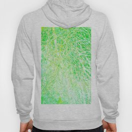 abstract yellow green Hoody