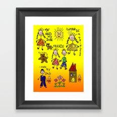 Children Collage Framed Art Print