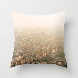 Hazy Barcelona Throw Pillow