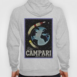 Vintage 1963 Rocket Bottle & Planet Bitter Campari Advertisement Hoody