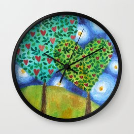 How Love Grows Wall Clock