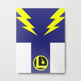 Minimalist Legion of Super-Heroes Poster - Lightning Lad Metal Print
