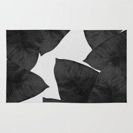Banana Leaf Black & White II Rug