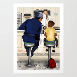 If Norman Rockwell Lived in Today's Society Art Print