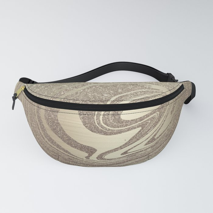 Mermaid Gold Wave Fanny Pack