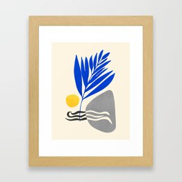 Landscape In Blue Framed Art Print