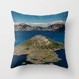 Crater Lake Love Throw Pillow
