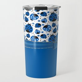 Fun Blue Ladybugs Travel Mug