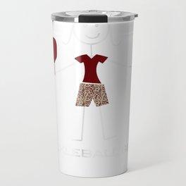 Funny Pickleball T-Shirt for Women, Gifts for Girls Travel Mug