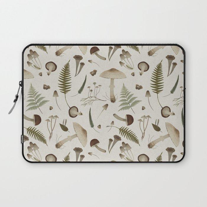 Mushroom pattern 1 white Laptop Sleeve