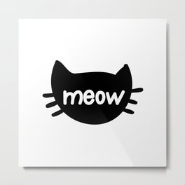Cat Cats Kitty Kitten Meow Pet Lover Funny Gift Giftidea Metal Print
