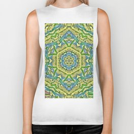 Beautiful wattle mandala Biker Tank