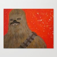 chewbacca Canvas Prints featuring chewbacca by bdevine