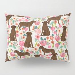 Labrador Retriever florals chocolate lab cute pet gifts must have labrador florals Pillow Sham