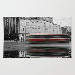 Ride the Rocket - Black and White / Color Pop Photograph Rug