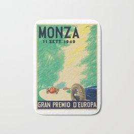 Grand Prix Monza, 1949, Gran Premio Monza, vintage poster Bath Mat