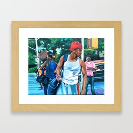 Three Black Men Framed Art Print