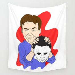 Michael Myers Unmasked Wall Tapestry
