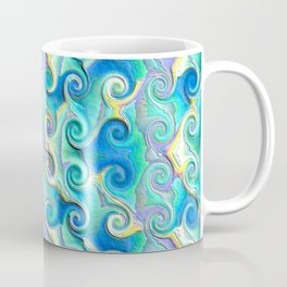 Seamless Wave Spiral Abstract Pattern Coffee Mug