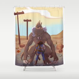 One on One Shower Curtain