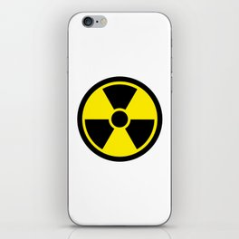 radioactive symbol iPhone Skin