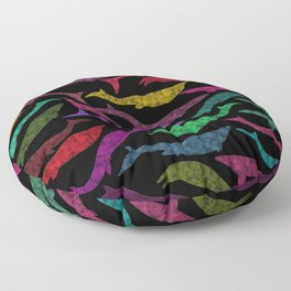 Extinct Marine Lizard I (Plotosaurus, Globidens, Platecarpus, Tylosaurus) Floor Pillow
