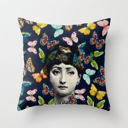 The Butterfly Queen Throw Pillow