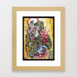 crossed gypsey Framed Art Print