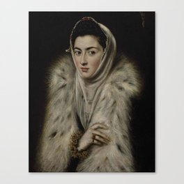 El Greco – Lady in a Fur Wrap Canvas Print