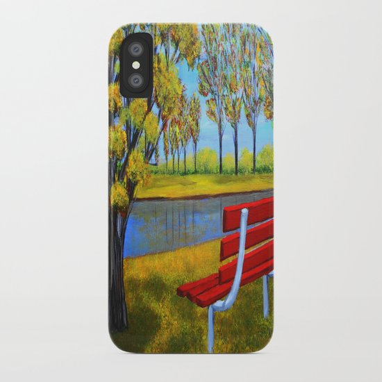 The red bench  iPhone Case