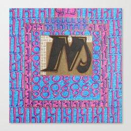 Alpha-Numero: M Canvas Print