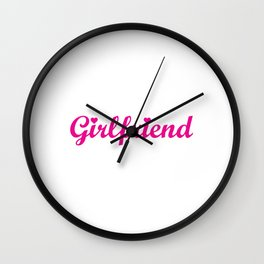 This Shirt Contains Girlfriend Material Funny T-shirt Wall Clock