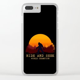 Bigfoot - Hide and Seek World Champion Clear iPhone Case