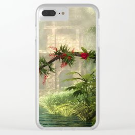 Lost City in the jungle Clear iPhone Case