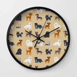 EASTERN EUROPEAN DOGS Wall Clock