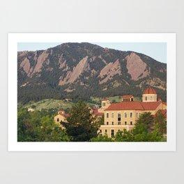 University of Colorado - Boulder Art Print