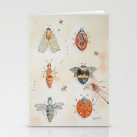 bees Stationery Cards featuring Bees by ASA Design