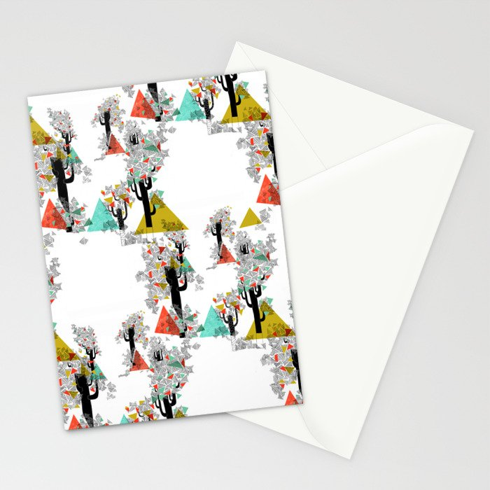 Tree Triangles Stationery Cards